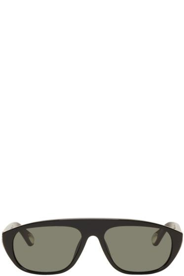 Ann Demeulemeester - Black Linda Farrow Edition Oval Sunglasses