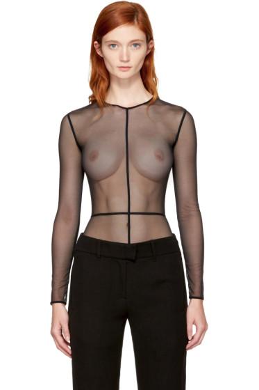 Ann Demeulemeester - Black la fille d'O Edition Tulle Bodysuit