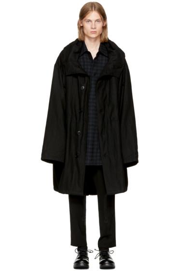 Ann Demeulemeester - Black Wool Parka