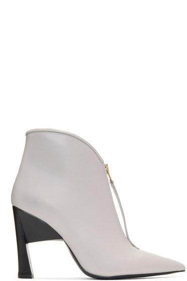 Marni - Grey Pointed Half Boots