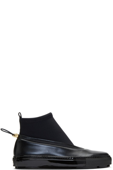 Marni - Black Neoprene & Leather Sock Boots