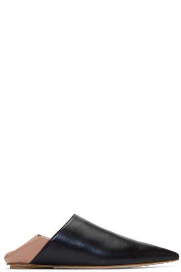 Marni - Black & Pink Leather Mules