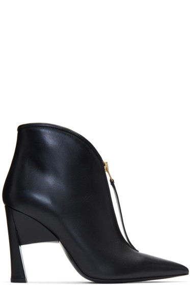 Marni - Black Pointed Half Boots