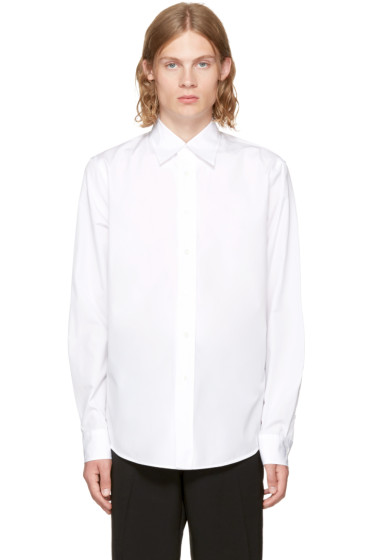 Marni - White Long Sleeve Panelled Sport Shirt