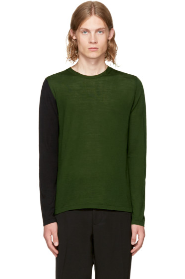 Marni - グリーン & ブラック カラーブロック セーター