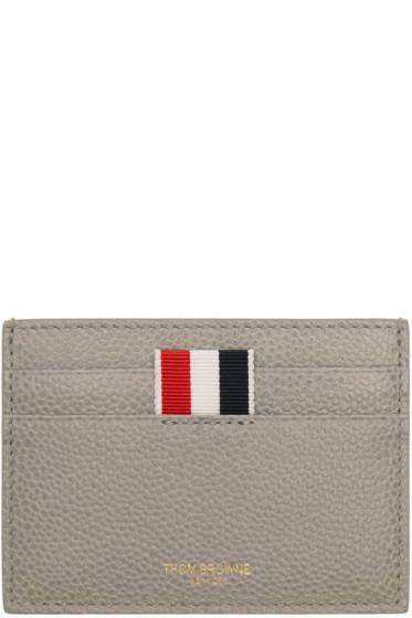 Thom Browne - Grey Single Card Holder