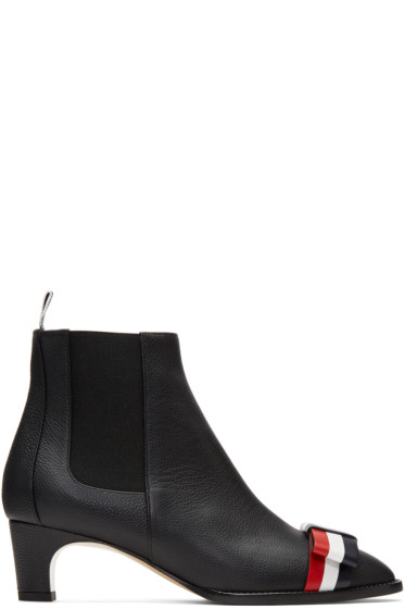 Thom Browne - Black Bow Chelsea Boots