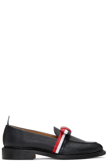 Thom Browne - Black & Tricolor Bow Loafers