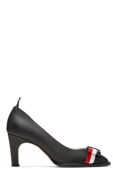 Thom Browne - Black Bow Kitten Heels