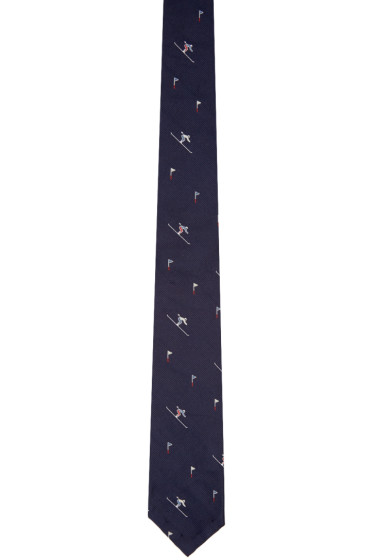 Thom Browne - Navy Classic Skier Tie