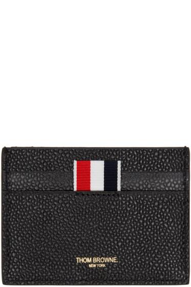 Thom Browne - Black Diagonal Stripe Single Card Holder