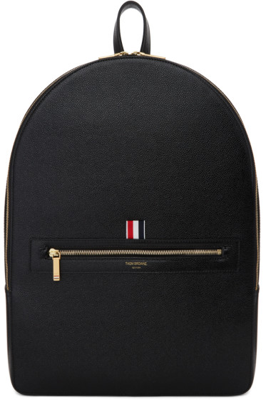 Thom Browne - Black Leather Backpack