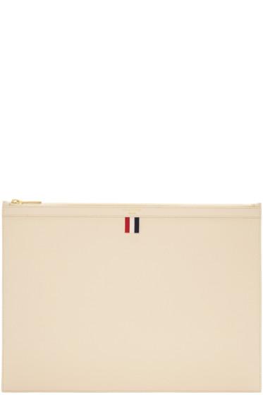 Thom Browne - Off-White Large Laptop Holder