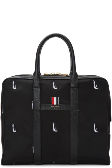 Thom Browne - Black Small Penguin Icon Holdall Briefcase