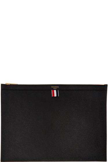 Thom Browne - Black Large Laptop Holder