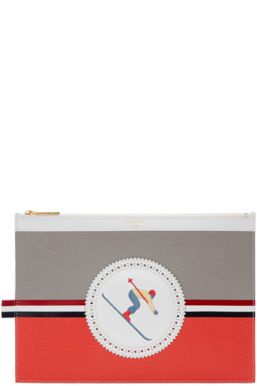 Thom Browne - Tricolor Skier Icon Tablet Holder