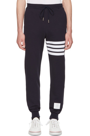 Thom Browne - Navy Classic Four Bar Lounge Pants