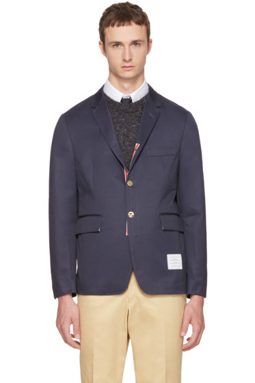 Thom Browne - Navy Classic Unconstructed Blazer