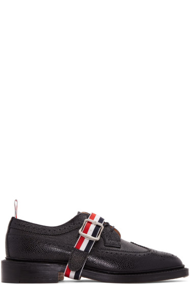 Thom Browne - Black Grosgrain Longwing Brogues