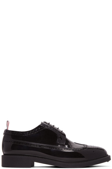 Thom Browne - Black Rubber Longwing Brogues