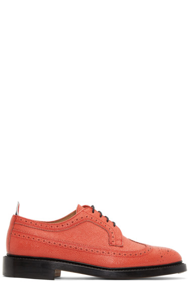 Thom Browne - Red Classic Longwing Brogues