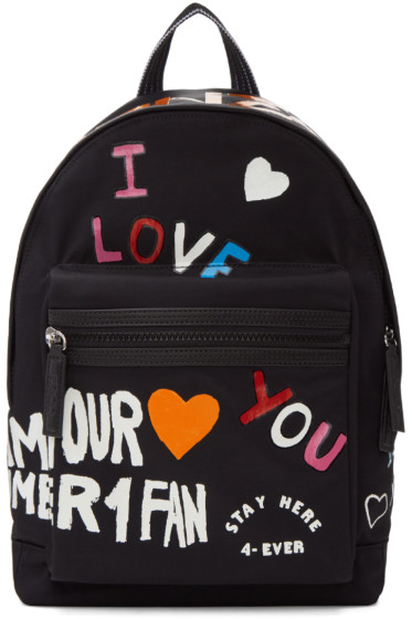 Kenzo - Black Limited Edition 'I Love You' Backpack