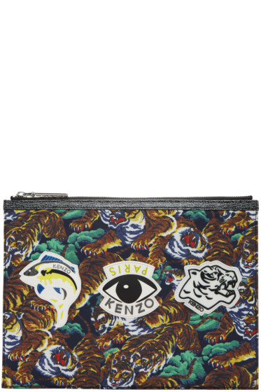 Kenzo - Multicolor Flying Tiger & Eye Multi Icons Pouch