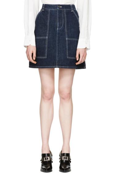 Kenzo - Blue Raw Denim Miniskirt