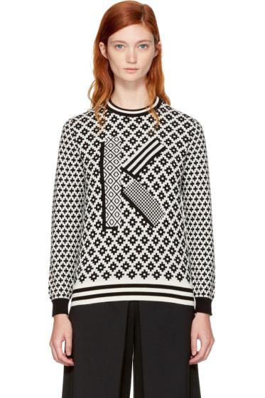 Kenzo - Black & Ivory Fairisle 'K' Sweater