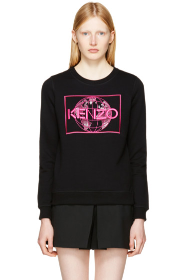Kenzo - Black World Logo Sweatshirt