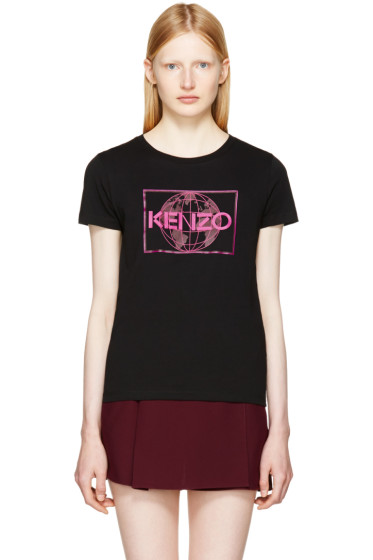 Kenzo - Black Logo World T-Shirt