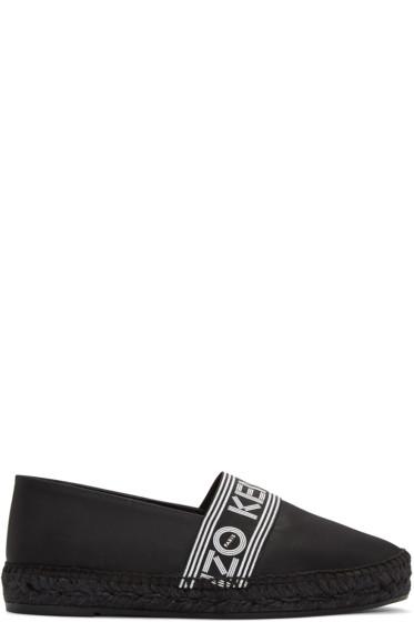 Kenzo - Black Nylon Capri Logo Espadrilles