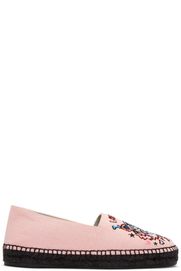 Kenzo - Pink Limited Edition 'Tiger x I Love You' Espadrilles