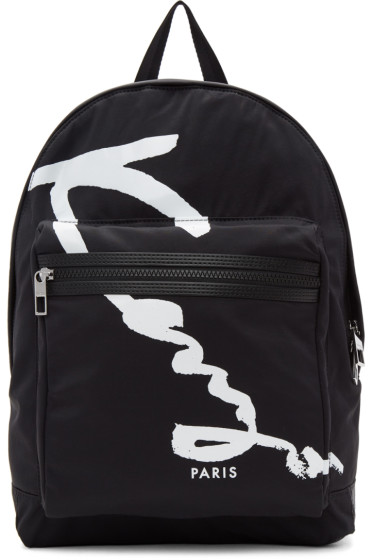 Kenzo - Black Signature Logo Backpack