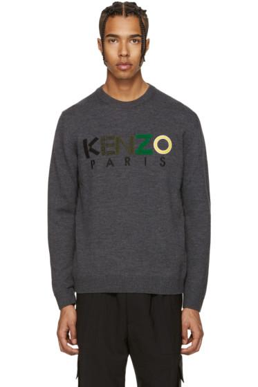 Kenzo - Grey Logo Sweater