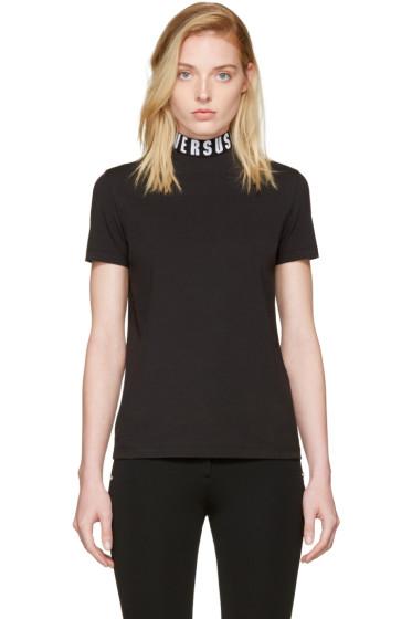 Versus - Black Logo Collar T-Shirt