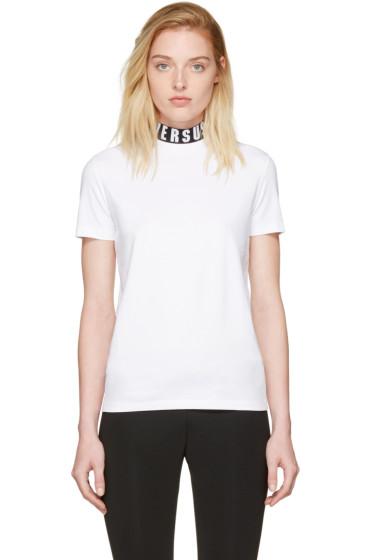 Versus - White Logo Collar T-Shirt
