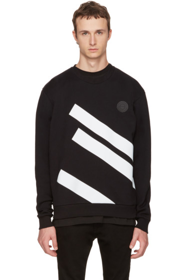 Versus - Black Diagonal Bands Sweatshirt