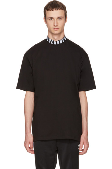 Versus - Black Logo Collar T-Shirt
