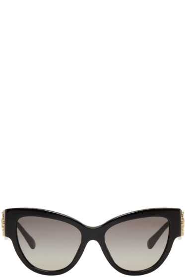 Versace - Black Rock Icons Baroque Medusa Cat-Eye Sunglasses