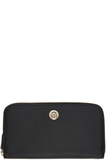 Versace - Black Medusa Zip Around Wallet