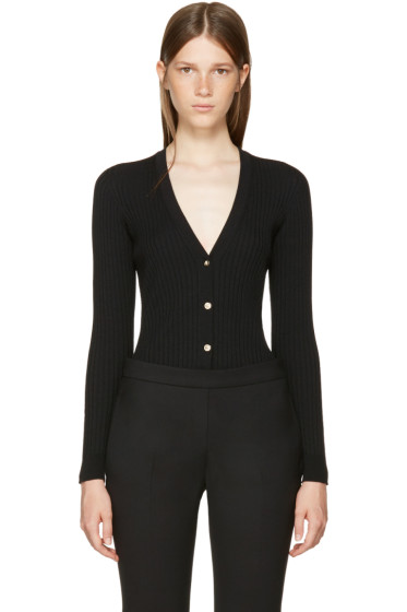 Versace - Black Wool Rib Cardigan