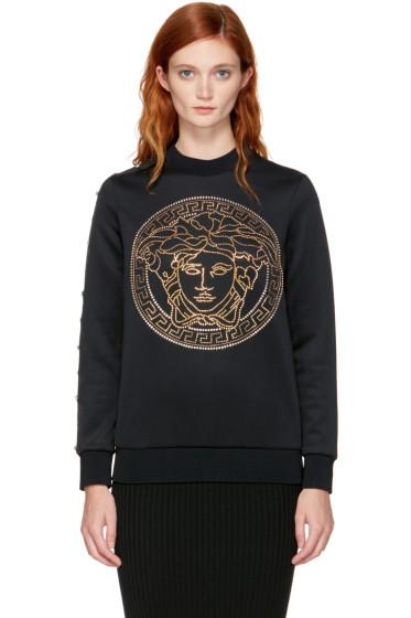 Versace - Black Studded Medusa Sweatshirt
