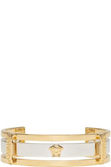 Versace - Gold & Silver Small Medusa Cuff