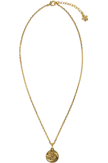 Versace - Gold Round Medusa Necklace