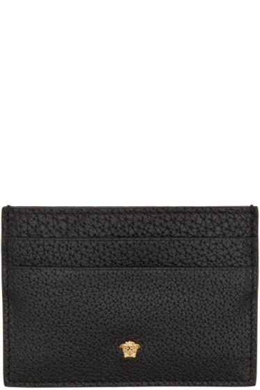 Versace - Black Small Medusa Card Holder
