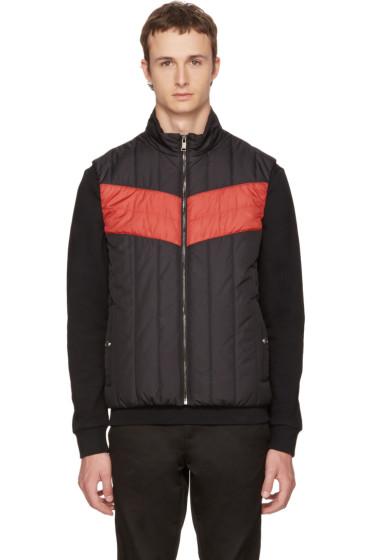Versace - Black & Red Padded Vest