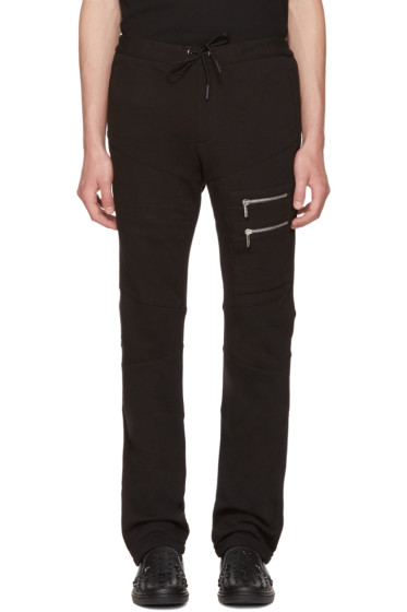 Versace - Black Multi-Zipper Lounge Pants