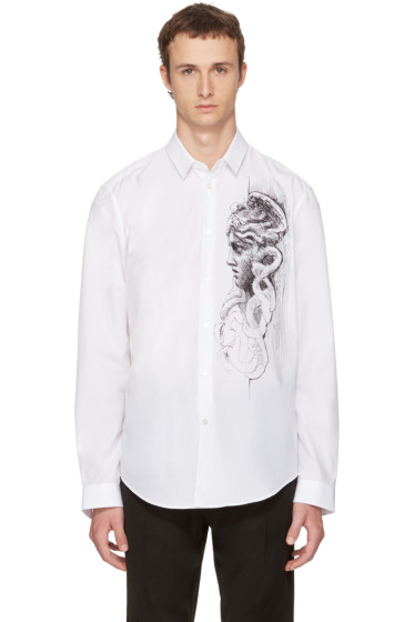 Versace - White Medusa Sketch Shirt