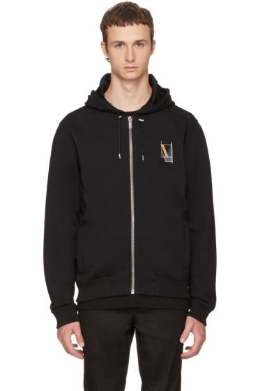 Versace - Black Logo Back Zip Hoodie